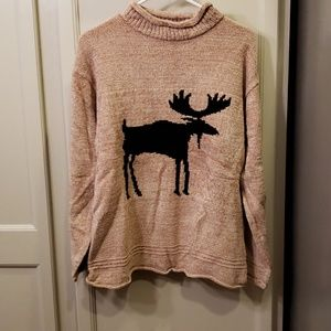 True Grit sweater with moose.